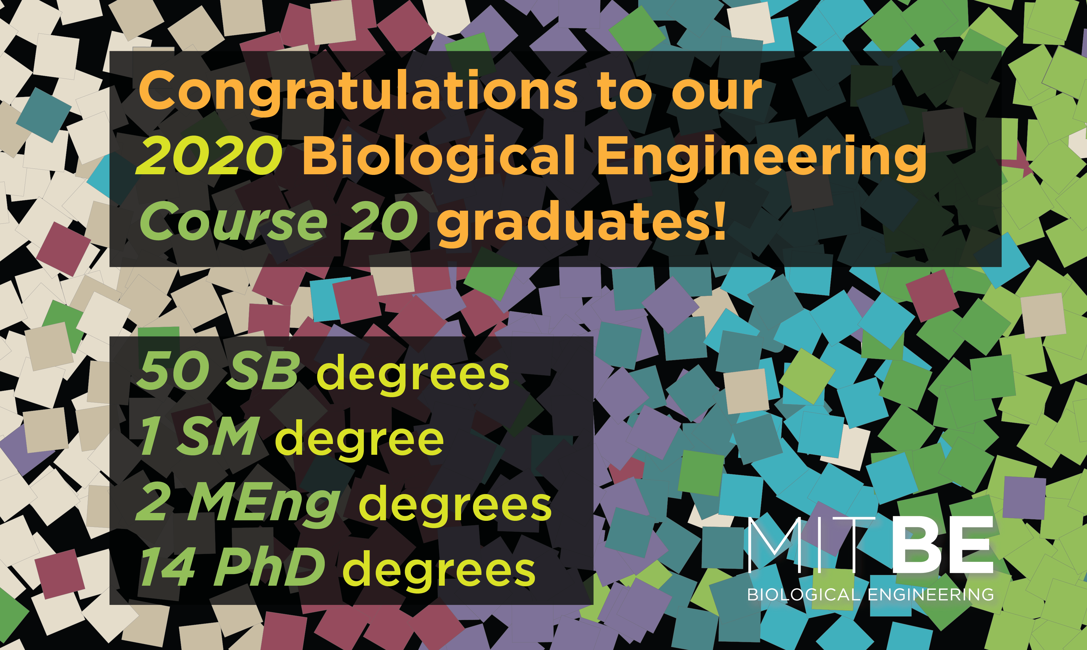 congratulations to our 2020 biological engineering course 20 graduates!