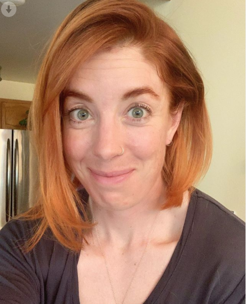Christina Birch with copper colored hair