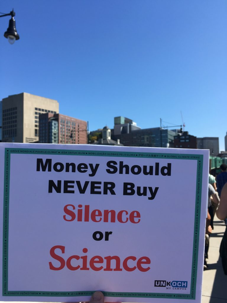money should never buy silence or science